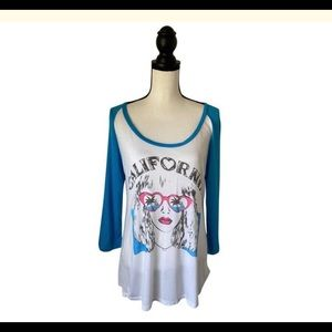 Lauren Moshi Long Sleeve California Tee Shirt